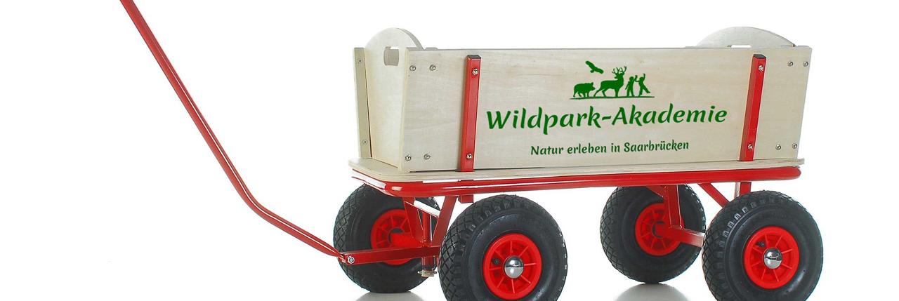 Bollerwagen Wildpark-Akademie im Wildpark Saarbrücken